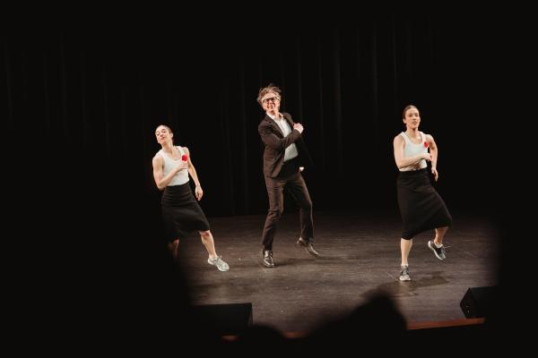 "Glass' talk was more than just talk – Monica Bill Barnes & Company, a contemporary dance outfit known for ""bringing dance where it shouldn't be"" also joined in the action."