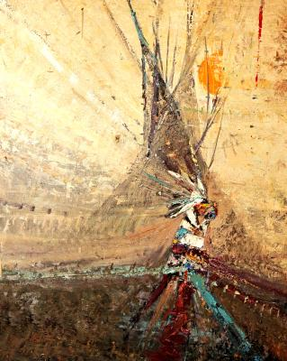 What made Montana artist Kira Fercho internationally famous was her teepee paintings.