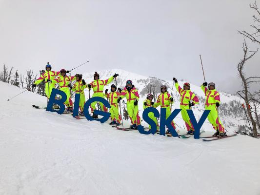 The 11 Johnson children span in age from 24 years old to six years old. Nine of them recently skied Big Sky with their parents.