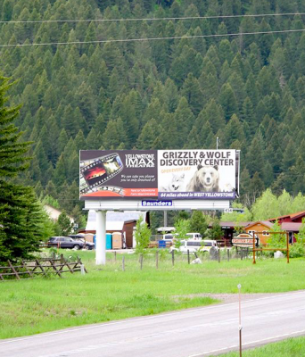 Much to the chagrin of neighboring landowners, the Beckman Flats billboard, seen here in the summer of 2018, is here to stay.