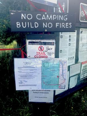 Attention hikers: The Bacon Rind Trail is closed.