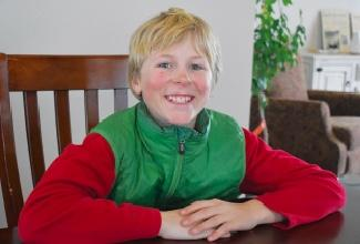 Ophir sixth-grader Sawyer Wolfe will have home field advantage for the Headwaters competition. He's been skiing as long as he can recall and does it with passion.