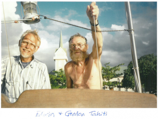 First mate Edwin McClanahan and his captain, Gordon.