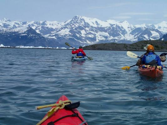 Kayaking in Prince William Sound.