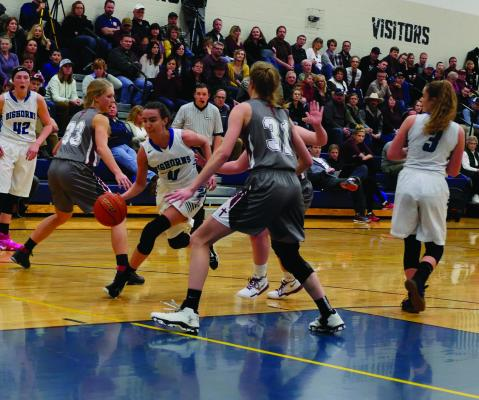 Emma Flach's first step was too quick for Manhattan Christian defenders.