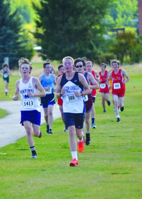 Freshman Nate McClain powers toward an impressive finish for the first-time runner.
