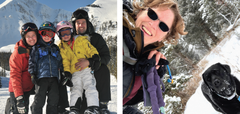 Attorney Matt Dodd poses with his wife Ashely and their kids, Piper and Jasper. Dodd brings his experience starting and leading nonprofits to the table.     Dr. Deb Lewis' love for the mountains brought her to Big Sky. She hopes her experience in emergency care will help her to understand the challenges BSFD faces.