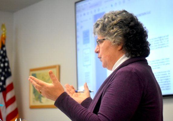 Susan Swimley, legal counsel for the Big Sky County Water & Sewer District, prepared the district's board of directors for backlash and threats of legal action from environmental groups concerned about the direction the board will take on the new water treatment plant and wastewater disposal options.