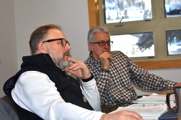 Big Sky County Water & Sewer District board of directors trustee Brian Wheeler and W&SGeneral Manager Ron Edwards take part in the ongoing conversation surrounding Big Sky's wastewater treatment and potential.