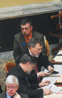 Rep. Kerry White (R) from Gallatin County was one of three representatives to speak in favor of SB 241.