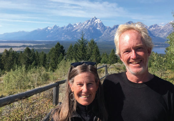 Katie and Peter Scherfig enjoy a sunny day. Peter was mauled by a grizzly bear on Memorial Day. PHOTO COURTESY PATTY DICKERSON