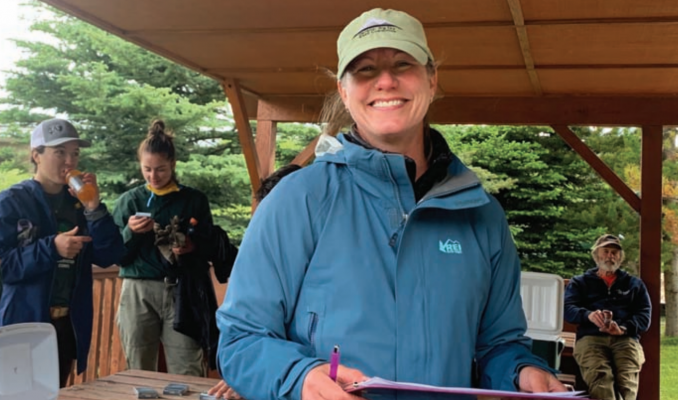 Jen Mohler (pictured), resource conservationist and executive director of Gallatin Invasive Species Alliance credits Leslie Ammons at Big Sky Owners Association for coming-up with the idea to have the effort benefit Peter Scherfig's recovery. PHOTO BY JANA BOUNDS