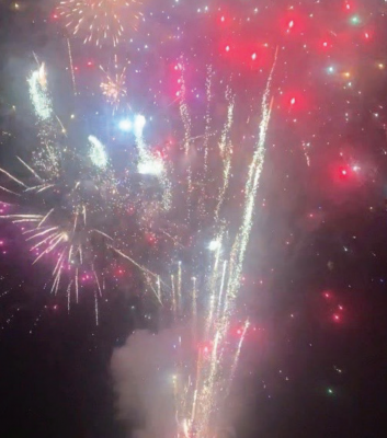 A handful of people invested 48 man hours and $6,000 for a 4th of July fireworks show in the Ramshorn neighborhood. PHOTO COURTESY GREG PARKER