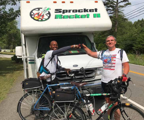 Andre Block Sr. and Jonathan Williams on their Unity Ride from New Orleans to Toronto. PHOTO COURTESY UNITY RIDE