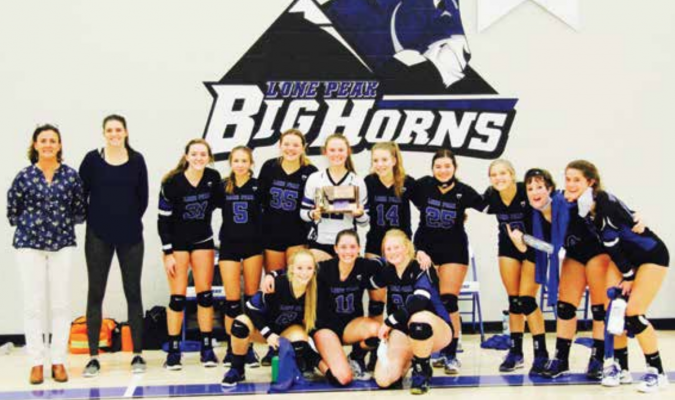COVID–19 served a kick to the Lone Peak High School Lady Bighorns during their perfect season. The team surfaced for the District tournament after a two week quarantine – and had a third place finish. PHOTO COURTESY KARA BLODGETT