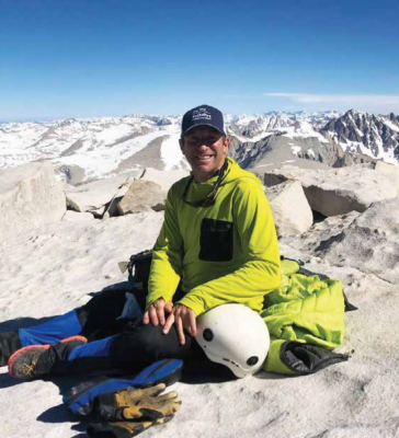 Ben Coleman on the top of Mt. Whitney, the highest point in the lower 48, which he summited with his friend Logan Dickerson. PHOTO COURTESY BEN COLEMAN