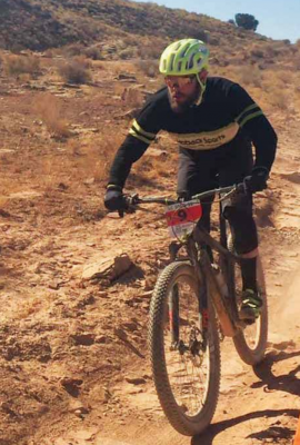 Sean Doherty competing in the longest one day race in the world in the single speed division. The race is 25 hours long and happens in Utah during the time change. PHOTO COURTESY SEAN DOHERTY