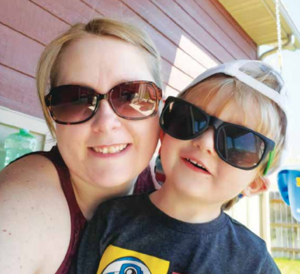 "Samantha Mize-Honatke with her three-year-old son Trey who ""gets into everything"" to the point that she and her husband have nicknamed him ""Trey-nado"". PHOTO COURTESY SAMANTHA MIZE-HONATKE"