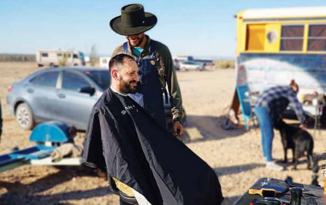 Pemberton described the glow he saw in people's faces after a haircut. He felt it was brought on more by the human connection than the haircut. PHOTO COURTESY OF KYLE PEMBERTON