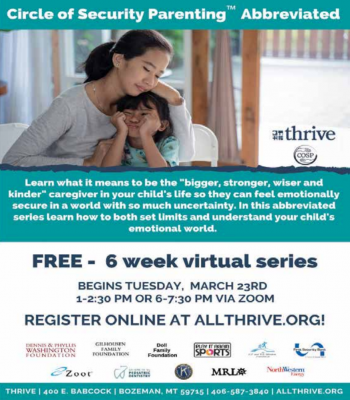 Decades of attachment research forms the backbone of a free parenting class offered by Thrive. PHOTO COURTESY OF THRIVE