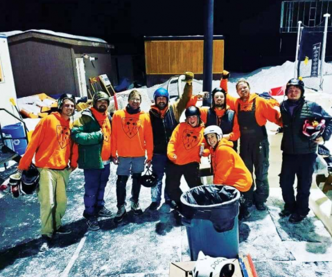 """Top Shack Whackers are thus far undefeated and are last season's league and tournament champions. Player Jeff Knaub says they are """"the best whackers in town!"""" He also bragged that """"people even come to watch us whack it!"""" PHOTO COURTESY OF SCHUYLER KNAUB"""