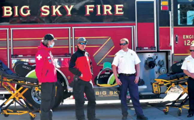 Big Sky Fire Department Chief Greg Megaard discusses the decision to keep lifesaving equipment in Big Sky. PHOTO COURTESY OF DUSTIN TETRAULT