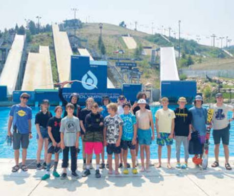 The Big Sky Freeride Ski team recently traveled to the U.S. Olympic teams' training venue ramp camp where they could practice their tricks. PHOTO COURTESY MICAH ROBIN