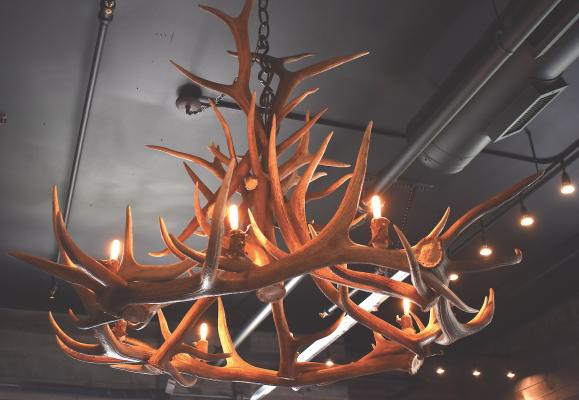 With a store named Antlers, there better be some horns hanging around. And there are—including this massive chandelier made from elk antlers.