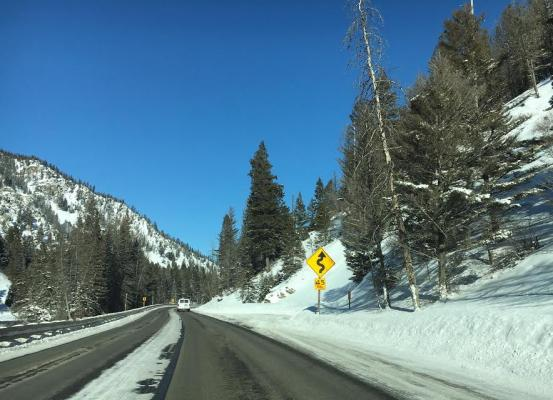 Winding road ahead! Mind the signs in the Gallatin Canyon, and take a tip from our editorial intern in this column tackling the challenges inexperienced drivers face along the dangerous roadway.