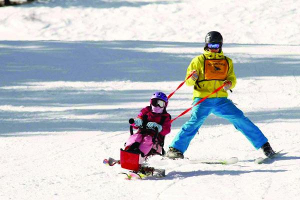 Eagle Mount's Big Sky Ski Program offers adaptive lessons for children and adults with a wide range of physical and developmental disabilities. The Eagle Mount program creates the opportunity for all individuals, no matter their disability, to enjoy the exhilaration of snow sports, and they currently need volunteers to help instruct adaptive ski lessons at Big Sky.