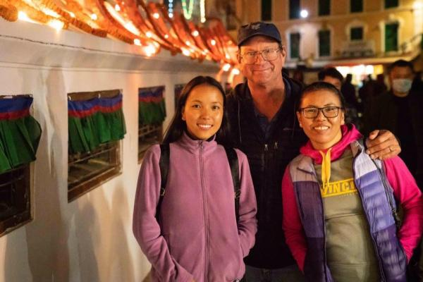 """Our beautiful daughter Lhakpa Doma is a second-year dental student here in Kathmandu and of course Fura Diki (on right) is the birth mother of our three daughters in Montana,"" Dr. Peter Schmieding wrote in a Facebook post."