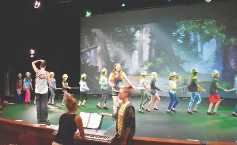 Choreographer Jennifer Waters leads Emily Graham as Fiona, and a chorus of rats, in Big Sky Broadway's first ever tap dance number.The show runs two nights, June 22-23, with a 7 p.m. start.