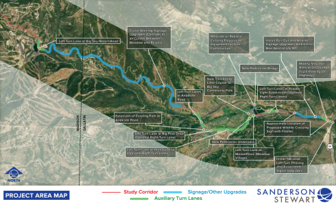 Look at the pending areas of construction for the TIGER grant project. COURTESY SANDERSON STEWART
