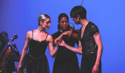 The Ahn Trio joined the James Sewell Ballet at the WMPAC last year, combining dancers, musicians and instruments in a seamless production.
