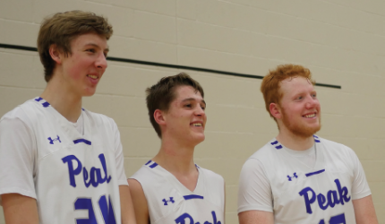 (L to R) Seniors Ethan Schumacher, Liam Germain and Jackson Wade.  PHOTO BY DAVID MADISON