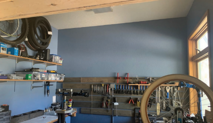 Shred Shack bicycle repair shop is now operating in By Word of Mouth, where an infrequently used server station used to be. PHOTO BY JANA BOUNDS