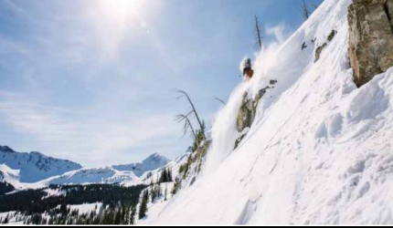 Jake Hopfinger skiing Big Sky backcountry last March. PHOTO COURTESY OF JAKE HOPFINGER