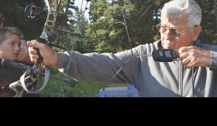 76-year-old Merrill Arbuckle has been teaching archery at the Jack Creek Preserve Youth Summer Camp since it began 18 years ago. He's been practicing the sport for most of his life, and hunting in the Jack Creek area for decades. In fact, the biggest bull elk he ever harvested, came from the area. He said elk numbers declined after the area was clear cut in the 1970's, but it's still a great place to hunt. He shot his first elk in 1960, and now has 58 sets of ivories in his collection.