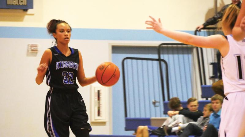 Jayleen Cole's late threes help push Big Horns past Shields Valley.