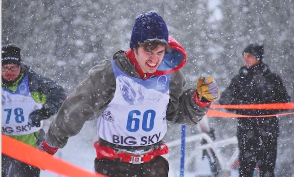 "It was all business for 21-year-old Special Olympian Boston Crouch of the Reach Renegades during the 100-meter snowshoe race. ""It was great,"" he said following the competition."