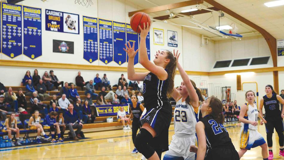 At key moments during Lone Peak's victory over Gardiner, Solae Swenson found easy buckets down low.