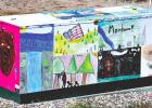 Artists of all ages are encouraged to submit their works in the latest Art on the Streets installment. This colorful utility box is located near the Community Park baseball fields and was designed by Livingston Elementary students.