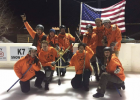 CHAMPIONS! Top Shack Whackers take the title with a score of 6-1. PHOTO COURTESY BIG SKY BROOM BALL