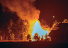 Fire ravages the home at 2510 Curley Bear Rd. PHOTO BY PAULBUSSI-IDEALPHOTOGRAPHY.COM