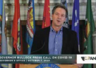 Gov. Steve Bullock discusses rising COVID-19 cases during an Oct. 13 press call. PHOTO BY JANA BOUNDS