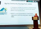 Laura Seyfang, executive director of Big Sky Housing Trust, presents at the Sept. Building Forum. PHOTO BY JANA BOUNDS
