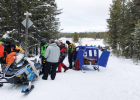 Gallatin County Sheriff 's Office Search and Rescue Volunteers used a snow ambulance near Yellowstone National Park over Christmas break to get an injured snowmobiler help. PHOTO COURTESY GALLATIN COUNTY