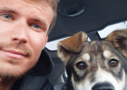 Sergey (Aaron) Weik and his sled dog Herbie, named after the Herbert Glacier in Alaska, where he was born. PHOTO COURTESY OF SERGEY WEIK