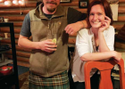 Seeking adventure and a new kind of life, former school teachers Chris De Ville and Emily Dearborn moved to Montana from Massachusetts. Their Saint Patrick's Day celebration in Big Sky consisted of De Ville's shepherd's pie made with lamb and served with Guinness. PHOTO BY JANA BOUNDS