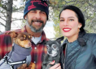 Angela Enriquez with her fiancé Walter Pettiford and their two dogs: Baby and Camo. PHOTO COURTESY OF ANGELA ENRIQUEZ